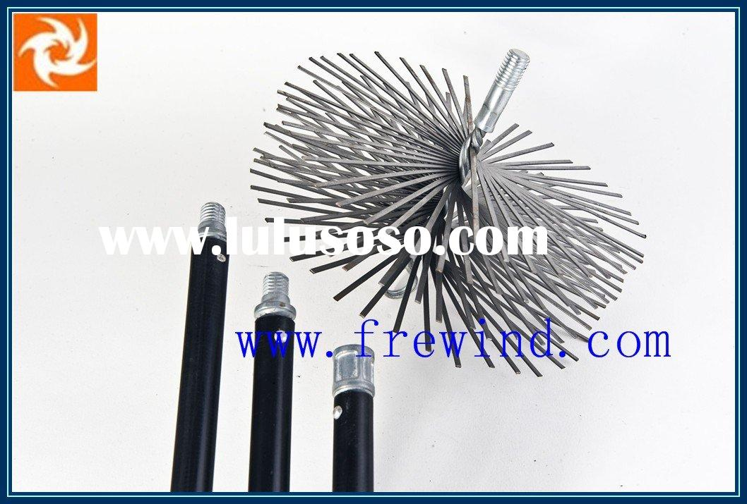 flat wire chimney cleaning brush with fiberglass rod