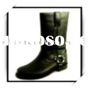 2011 Cool Fashion Man Half Leather Boot Shoes