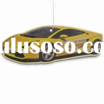 Car shaped paper air freshener