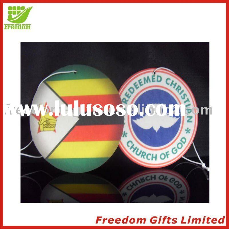Cheapest Price Promotional Logo Printed Paper Air Fresheners,Paper Car Air Fresheners