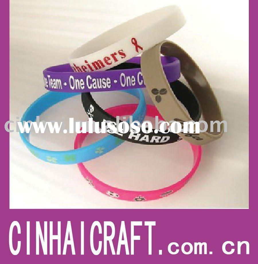 Custom Silicone Wristbands! Add Your Text & Design!