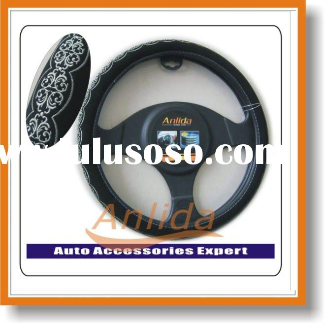 Embroidery auto accessory steering wheel cover