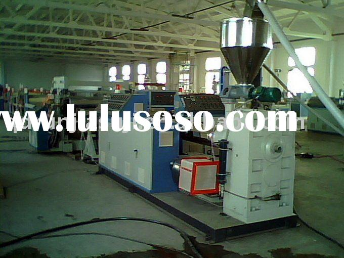 WPC wood plastic composite panel machine