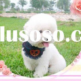 ** BEST WHOLESALE DISCOUNTS ** DOG APPAREL *LOW MOQ* Dog Bandanas - Blue color with cute red heart p