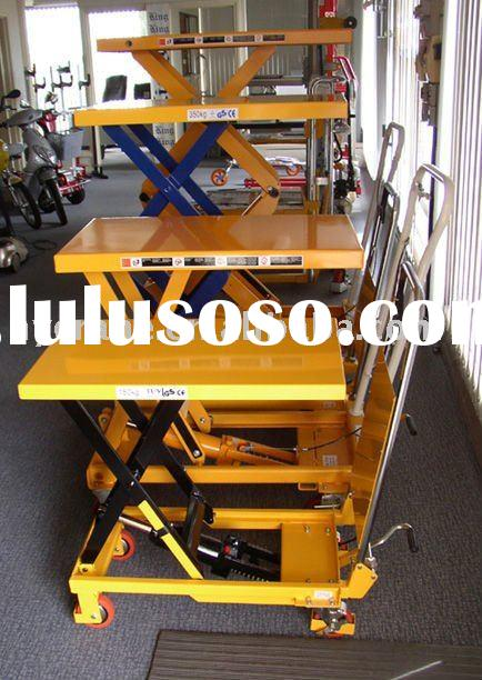 4 wheels hydraulic working platform