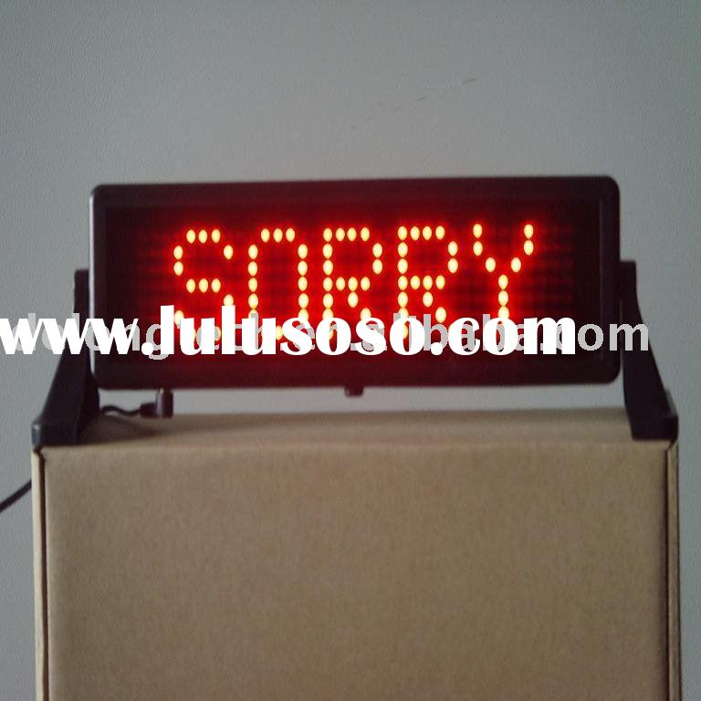 7X35 mini led sign brake indoor advertising moving message sign