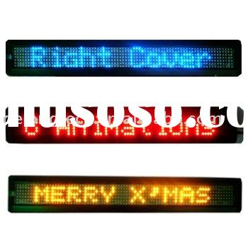 7X80pixel indoor led scrolling signs with English language