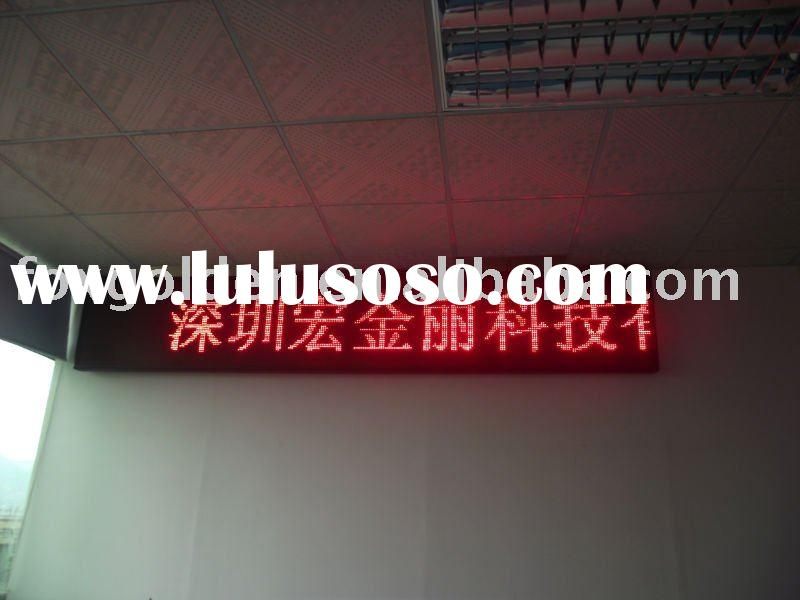 Durable indoor small moving sign led display