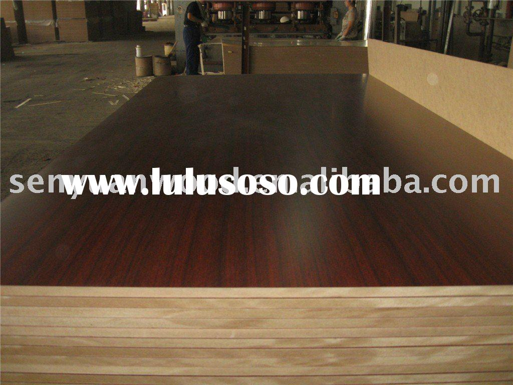 Melamine faced MDF sheet