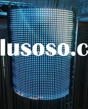 Stage used flexible led curtain displays signs