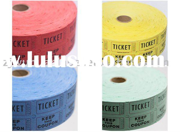 Ticket roll paper used in ticket dispenser for sale for Office depot raffle ticket template