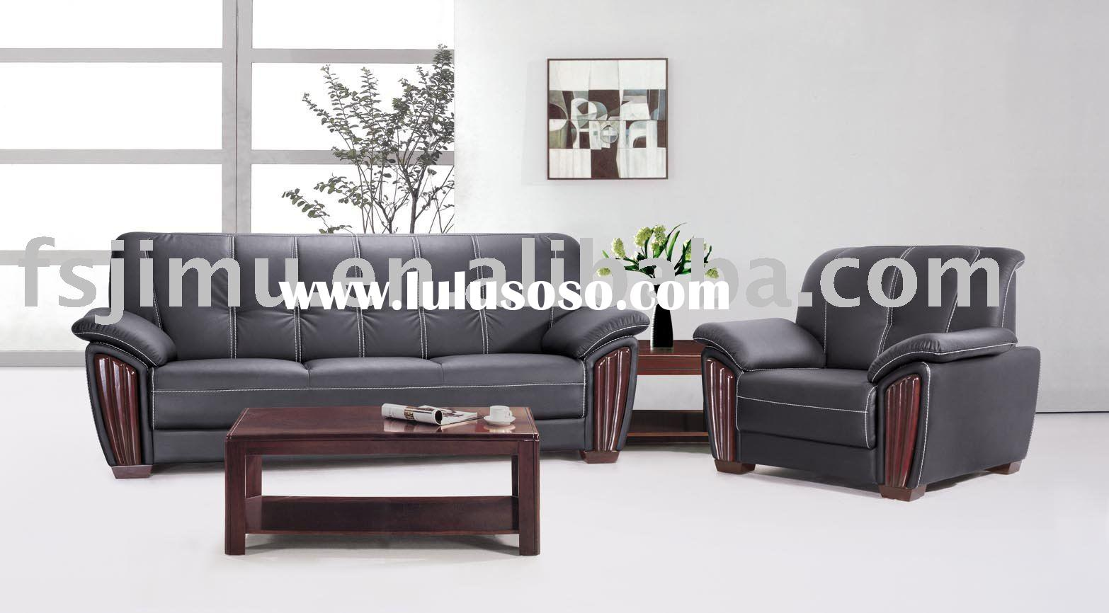 high end receiption furniture comfortable luxury leather sofa