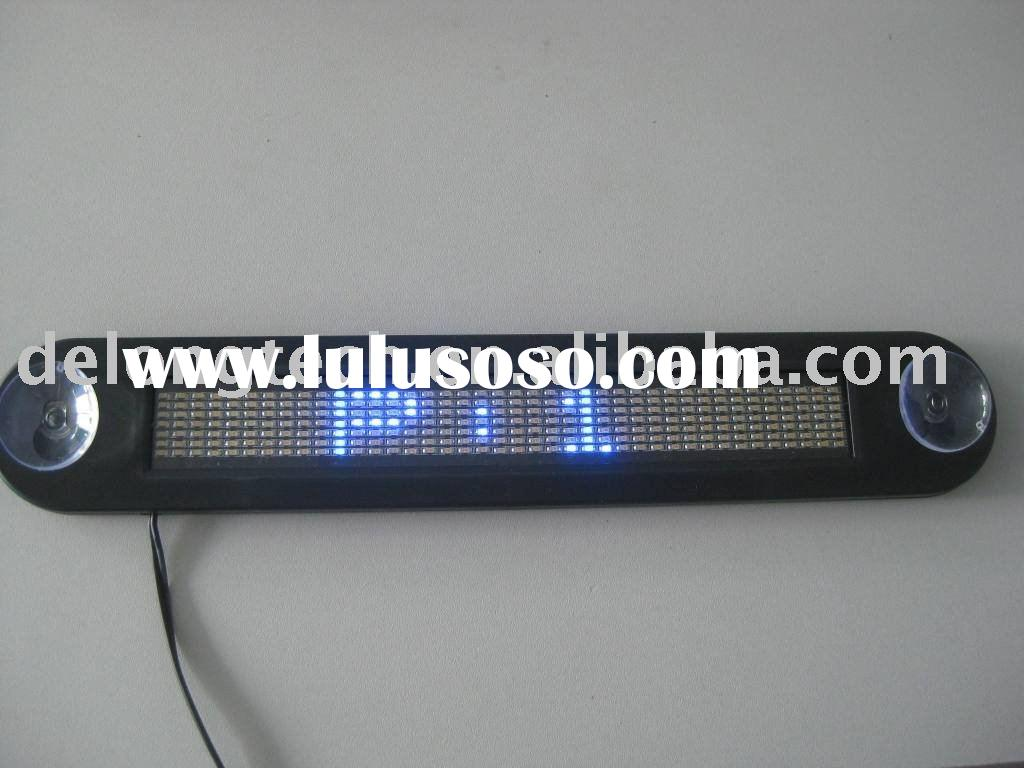 indoor scrolling led car sign