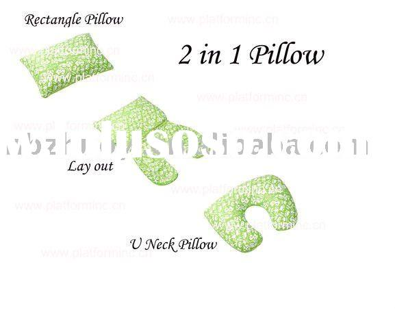 2 in 1 microbead pillow / EPS filled pillow / polystyrene bead cushion / travel pillow