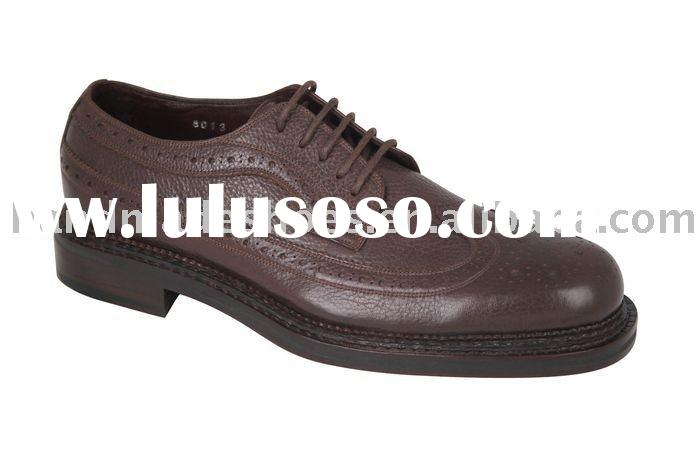 Dress leather shoe genuine leather for man purely handmade