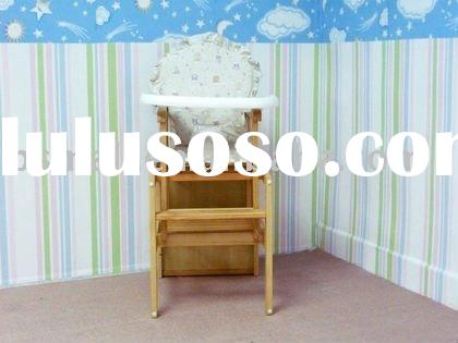 Wooden baby high chair BS-M1006A