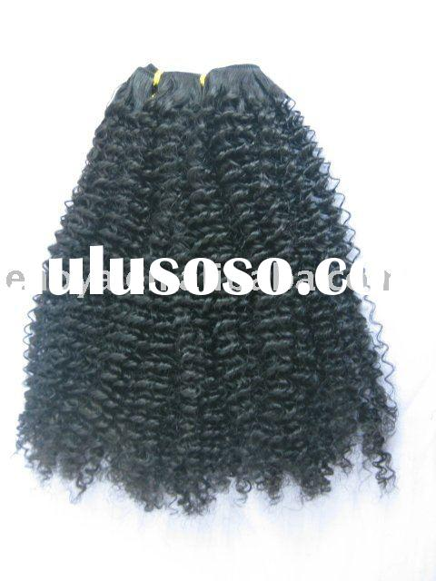 100% afro curly human remy hair weaving