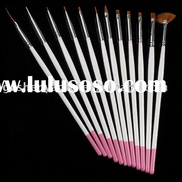 12 SABLE BRUSH NAIL ART DESIGN DOTTING PAINTING PEN KIT