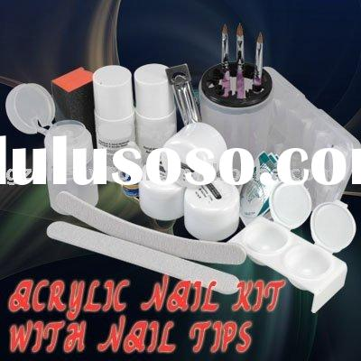 Acrylic NAIL ART Manicure Kit Acrylic powder False Tips