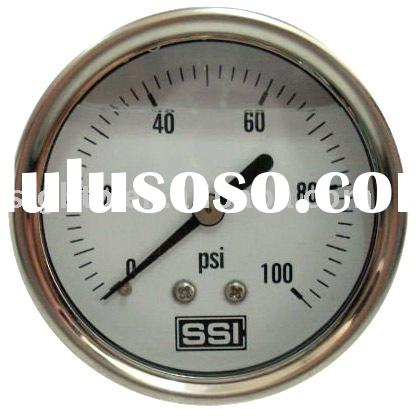 All stainless steel liquid filled vibration-proof pressure gauge
