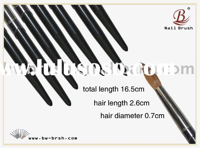 Baowang black wooden handle kolinsky hair acrylic nail brush