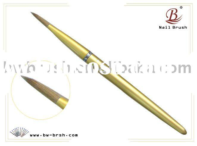 Baowang golden diamond metal handle kolinsky hair sculpture nail brush