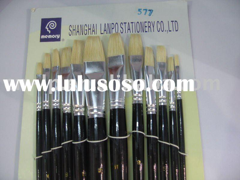 Fine quality bristle hair oil paint brushes  No.577