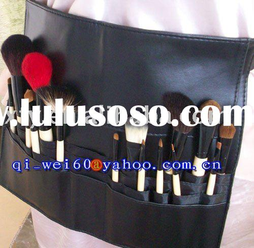 Goat Hair & Squirrel Hair Profession Make up Apron High Quality 16pc Belt Bag Brush Set Belt Len