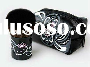 Hello Kitty Cute Makeup Blush Brush + Pouch Purse Bag