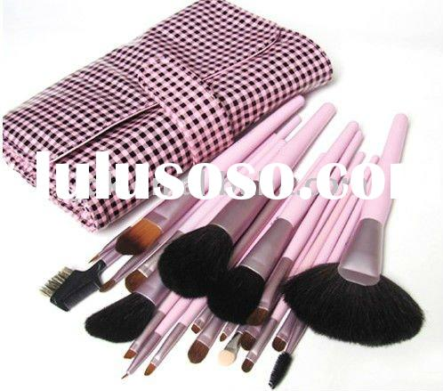 JDK-PL0922 21pcs Professional makeup brush set with satin bag/make up brush