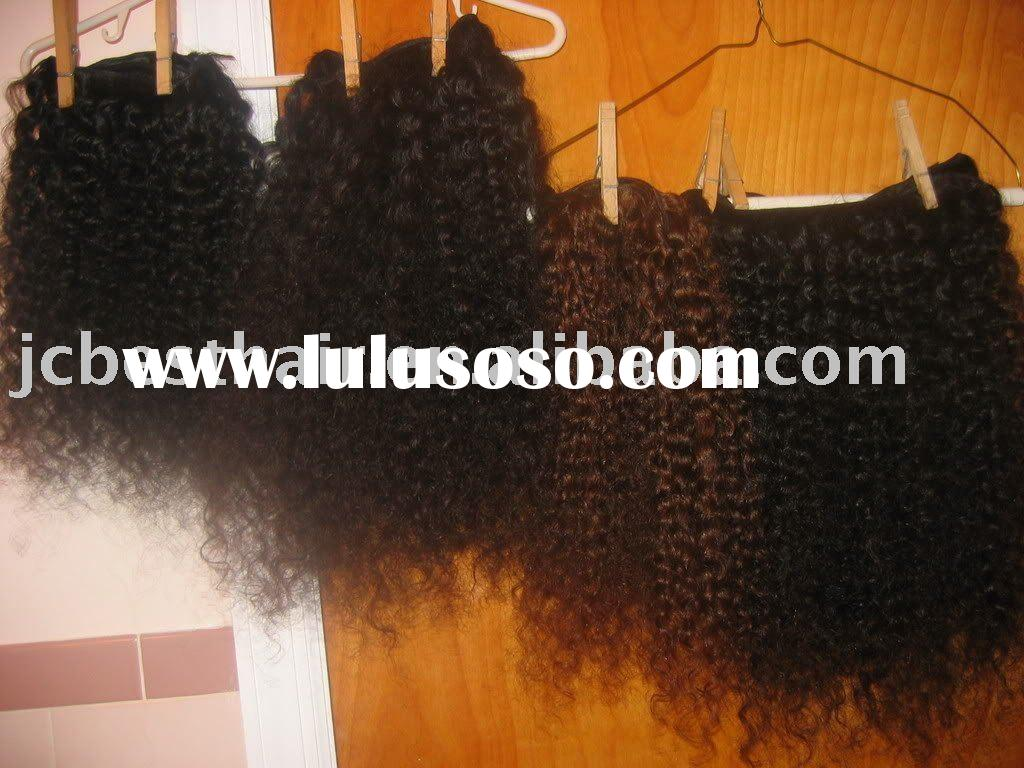 Kinky Curly Remy Brazilian Hair Extension/Weaving