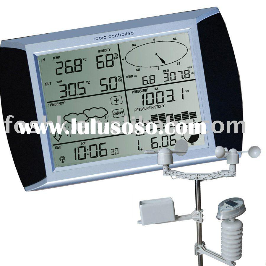 Solar panel, Touch screen Weather Center with PC interface, weather station