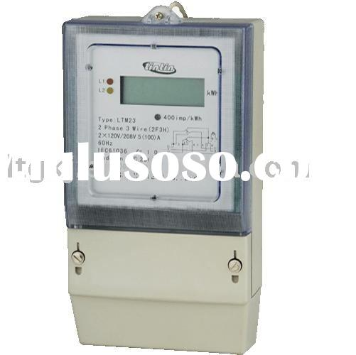 Two-Phase three-Wire electronic watt-hour meter energy meter