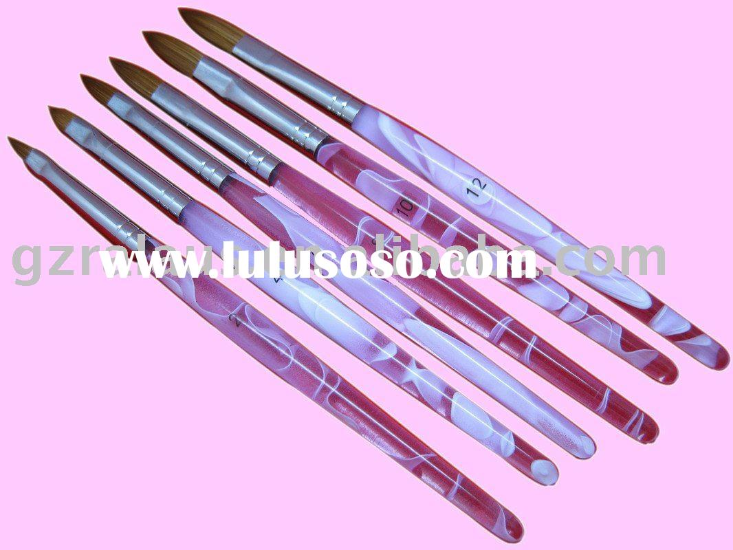 acrylic nail brush set with  kolinsky hair