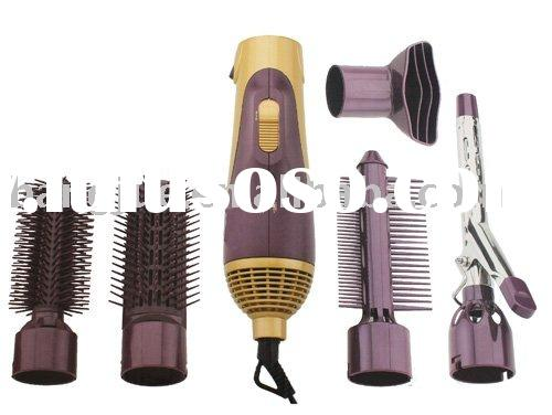 dual voltage wiht 5 accessories hair dryer(air iron;comb brush;round brush;half brush;nozzle)
