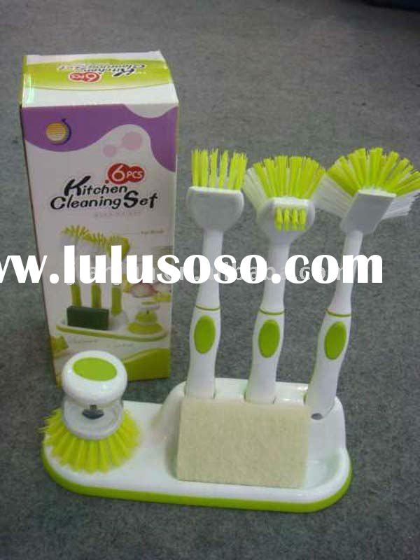 plastic cleaning  brush set