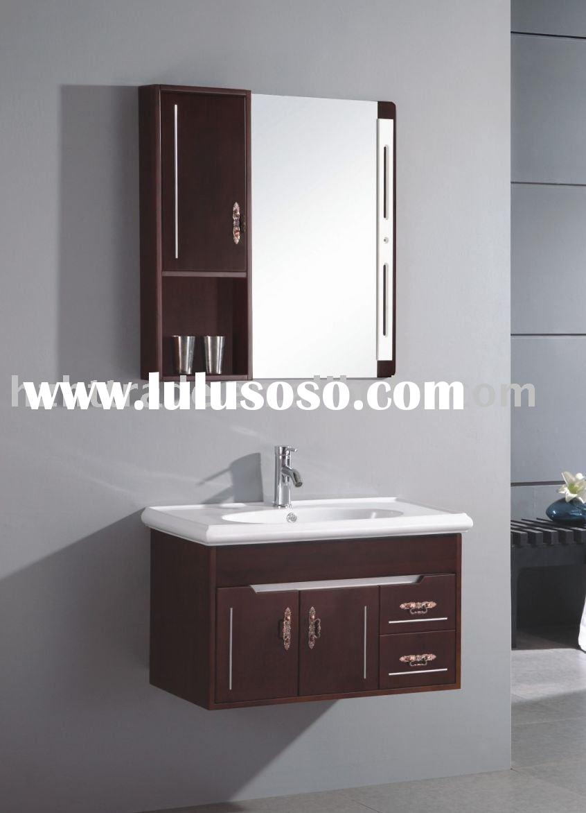 2011 furniture sale new small bathroom counter top vanity cabinet design HTBC-6096