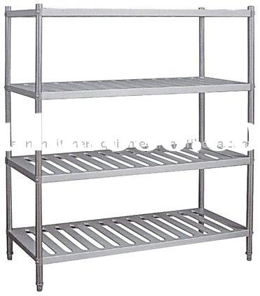 4 Tier stainless steel grocery rack