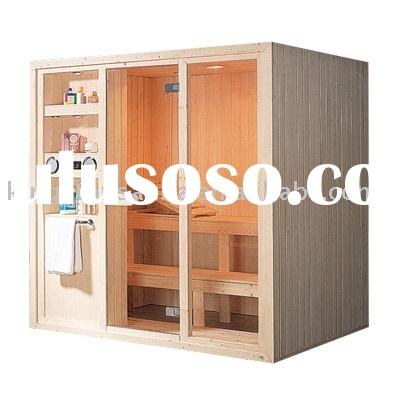 4 people dry steam sauna room with free sauna stove