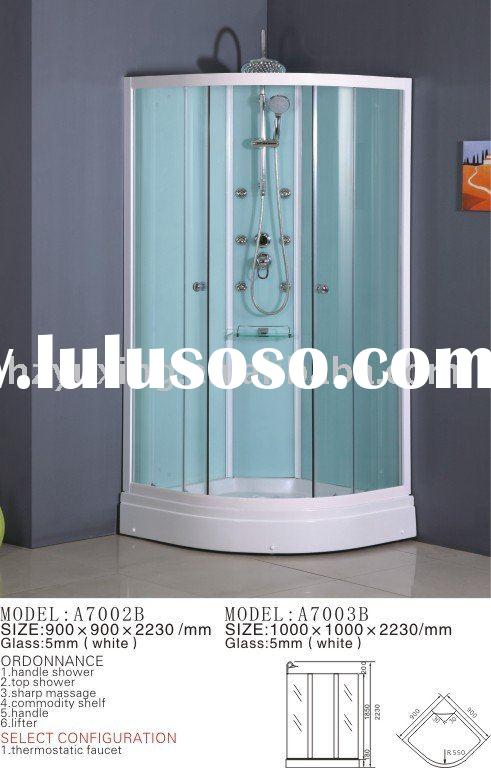 A7002B A7003B Simple Steam Shower Room without Ceiling