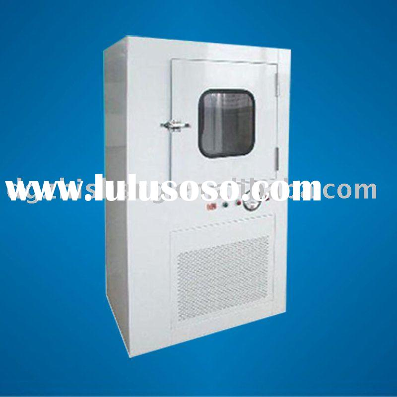 Air-shower pass thru cabinet for clean room
