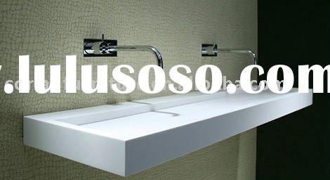 C-09 New Corian solid surface built designed bathroom basin