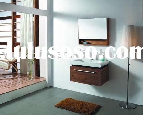 Popular wall hung shower room cabinet of solid wood V-13072