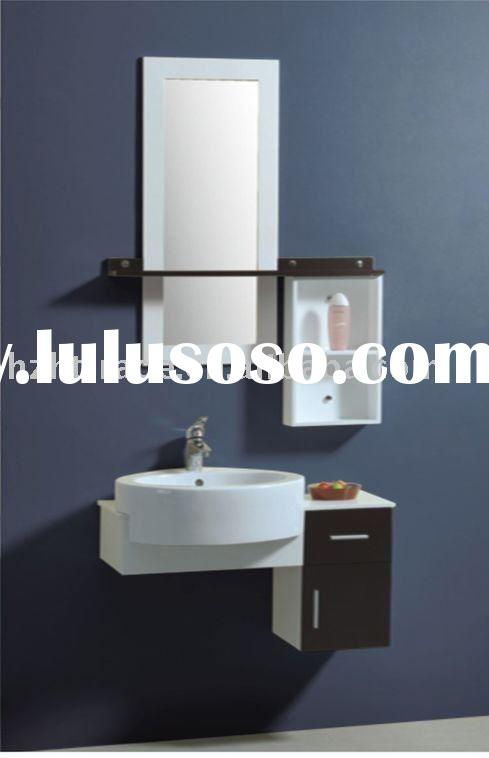 Simple black color PVC modern small bathroom design vanities HTBC-5035