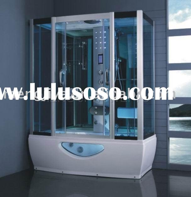 aluminium frame steam shower room with jacuzzi