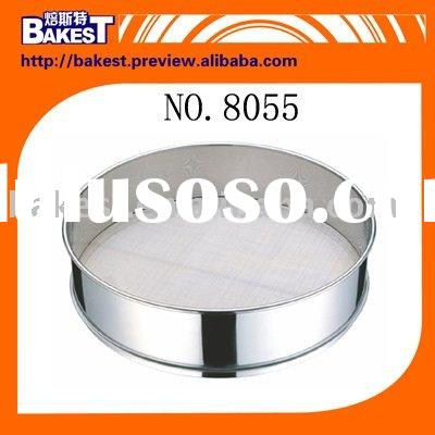 baking & pastry tools-Stainless Steel-16CM Round Plastic Flour Sifter-Bakest-8055#