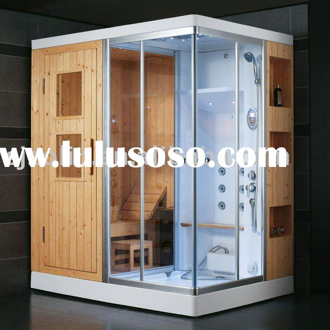 china famous brand tempered glass sauna steam room