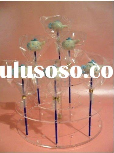 clear acrylic cake pop stand