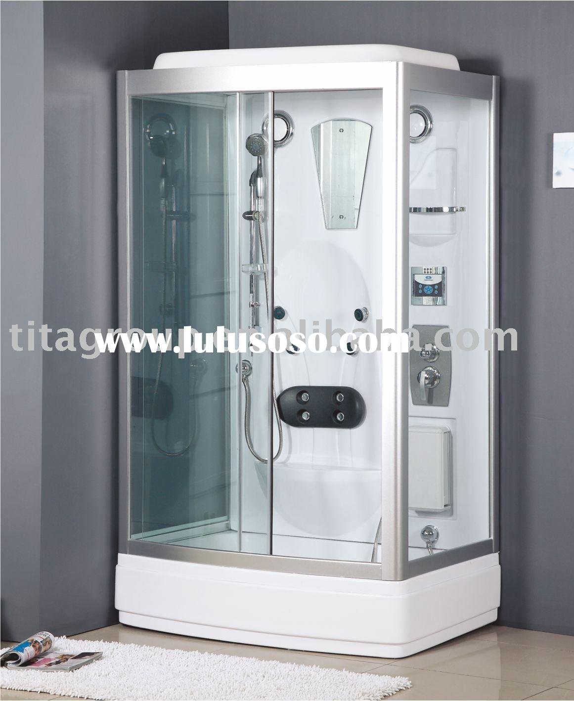 home steam baths spa shower room with thermometer