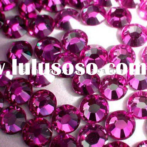 2011 high quality  hot fix rhinestones rose ss20 fast delivery